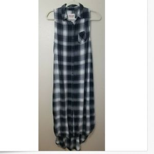 Mossimo Plaid High Low Dress